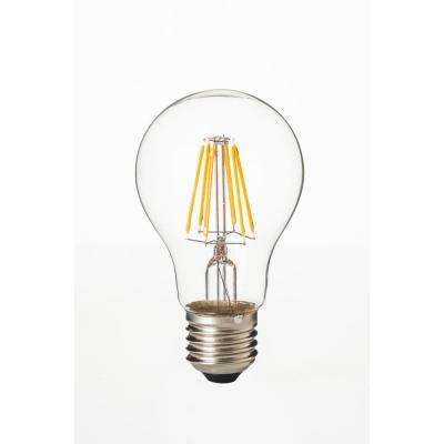 75-Watt Equivalent A19 Dimmable Filament LED Light Bulb Warm White (5-Pack)