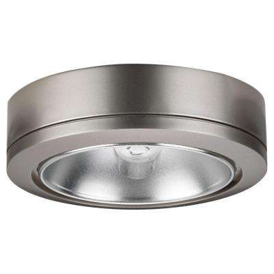 Ambiance 1-Light Brushed Nickel Low Voltage Disk