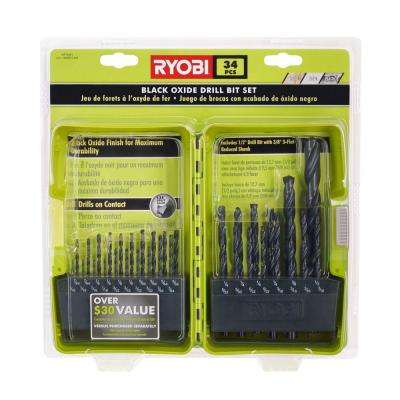 Black Oxide Drill Bit Set (34-Piece)