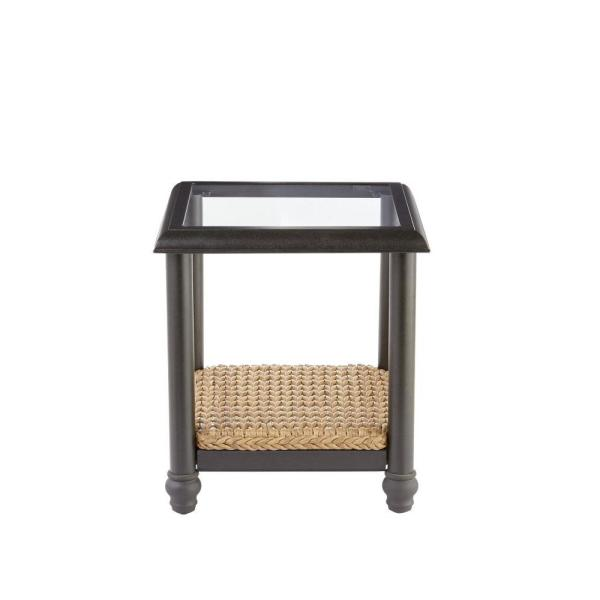 Home Decorators Collection Camden Light Brown 3 Piece Wicker Outdoor Chat Set With Sunbrella Fretwork Mist Cushions Fra60624asw St2 The Home Depot