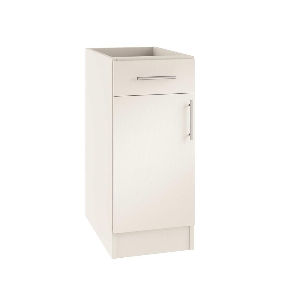 Assembled 12x34.5x24 in. Miami Island Outdoor Kitchen Base Cabinet with 1
