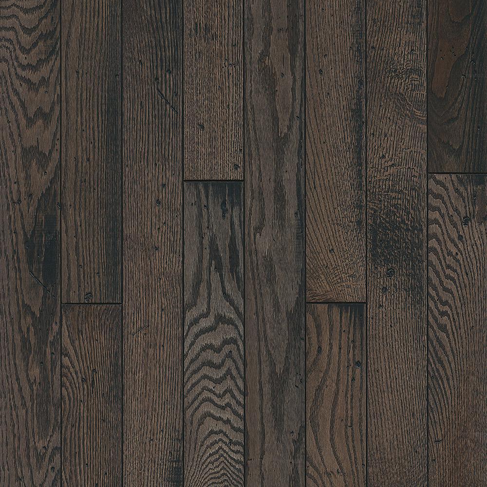 Oak Rustic Tone Gray Solid Hardwood