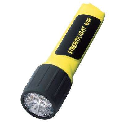 Propolymers 4AA LED with White LEDs and Alkaline Batteries in Box. Yellow