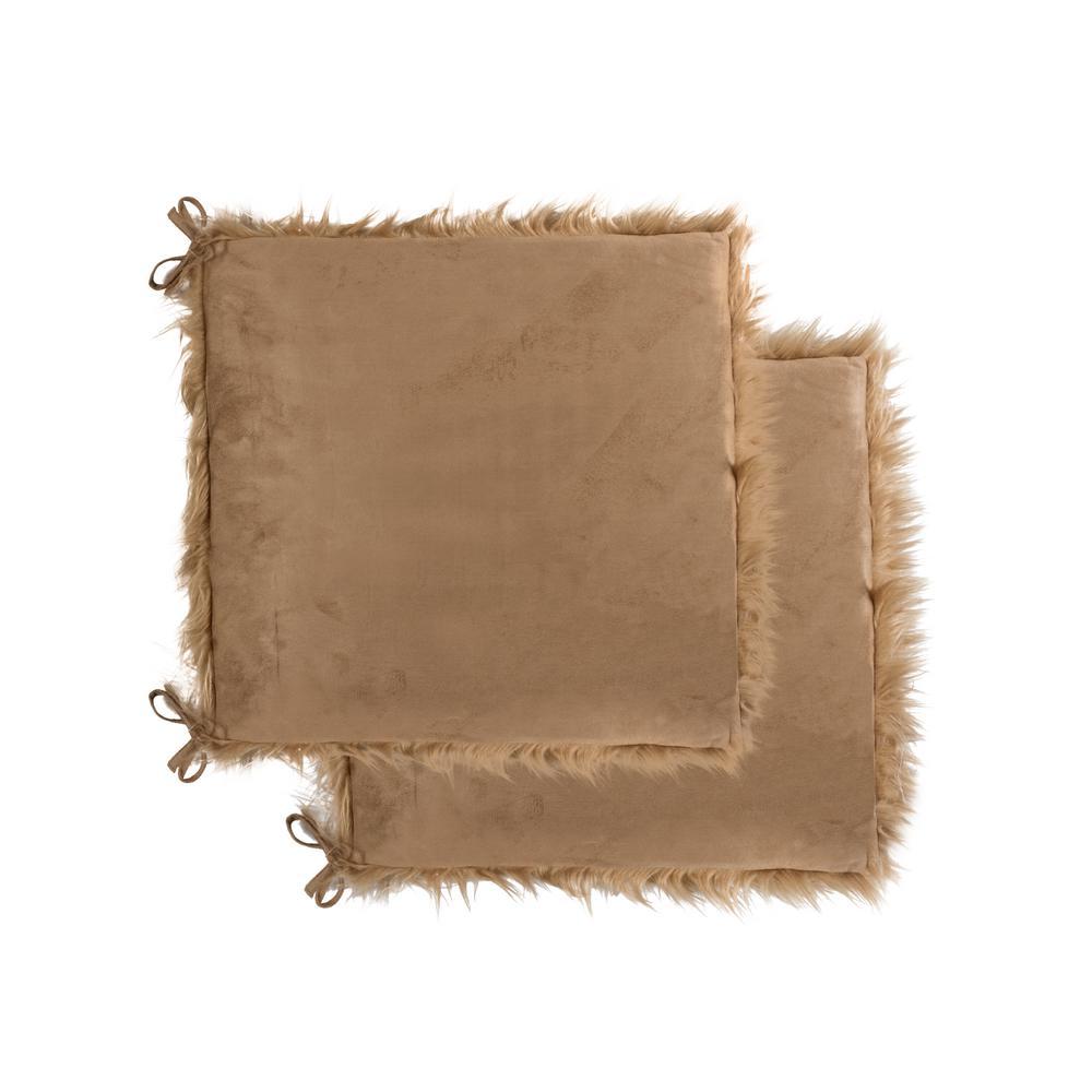 Excellent Luxe L 100 Faux Fur Laredo Tan Faux Sheepskin Fur Chair Pad Machost Co Dining Chair Design Ideas Machostcouk