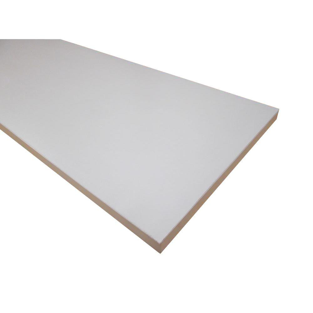 3/4 in. x 15-3/4 in. x 47-3/4 in. White Melamine Shelf