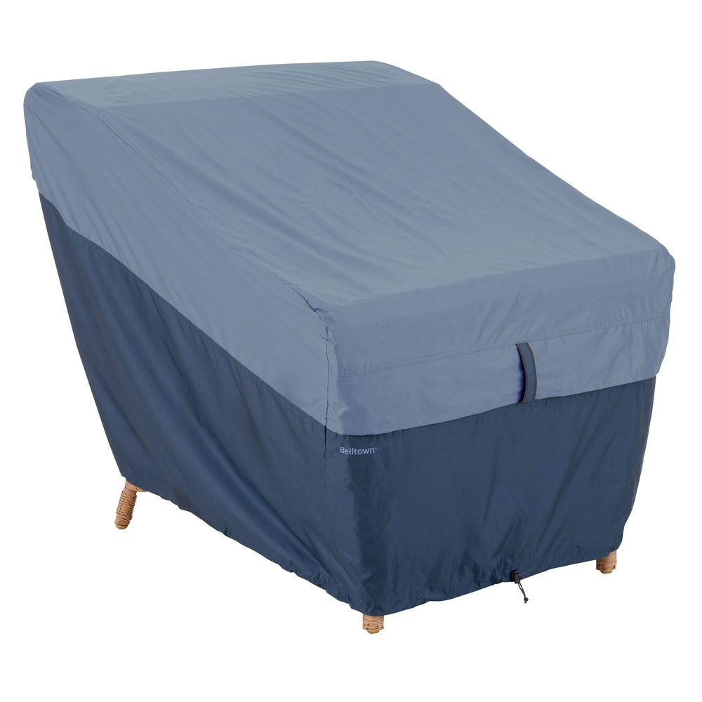 Classic Accessories Belltown Skyline Blue Patio Lounge Chair Cover