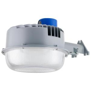 250-Watt Equivalent Integrated LED Gray Wet Location Photocell Dusk to Dawn Outdoor Security Area Light, 5000K Daylight