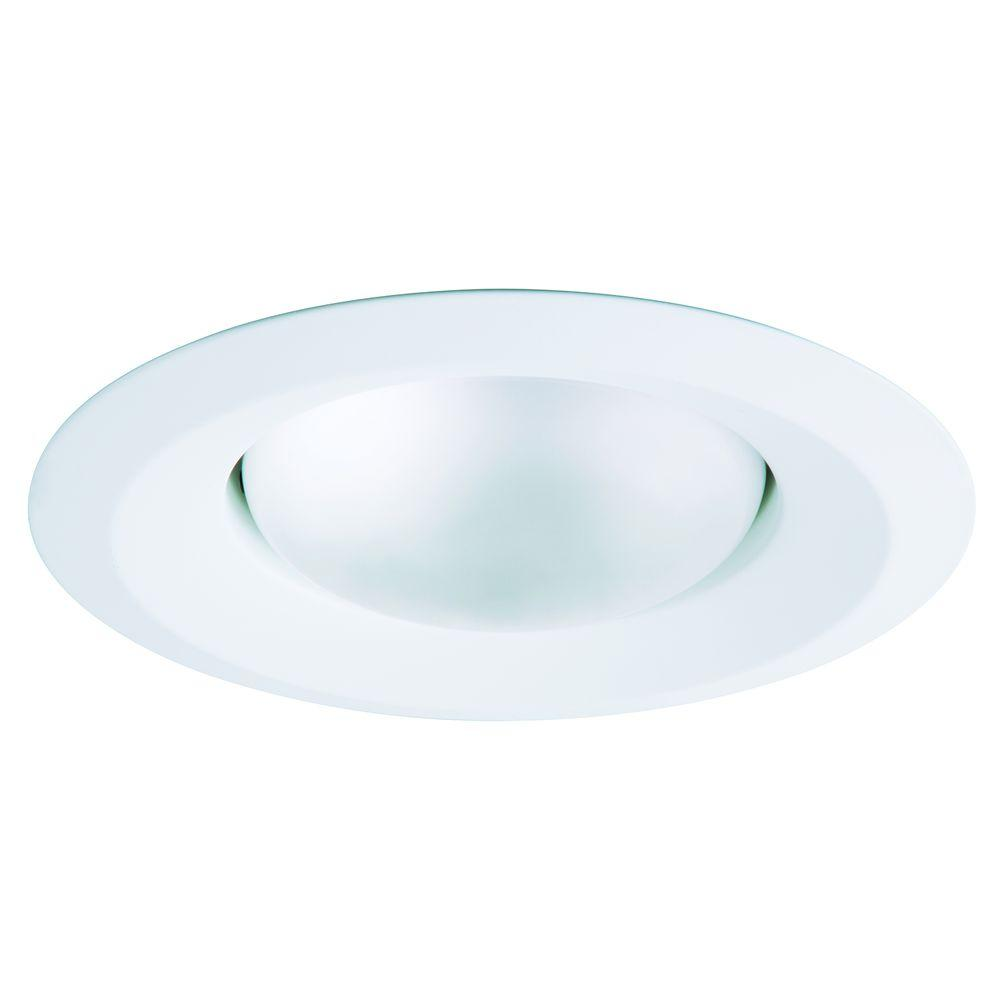 White Recessed Ceiling Light Self Flanged Splay Trim  sc 1 st  The Home Depot & 5 in. - Recessed Lighting Trims - Recessed Lighting - The Home Depot azcodes.com
