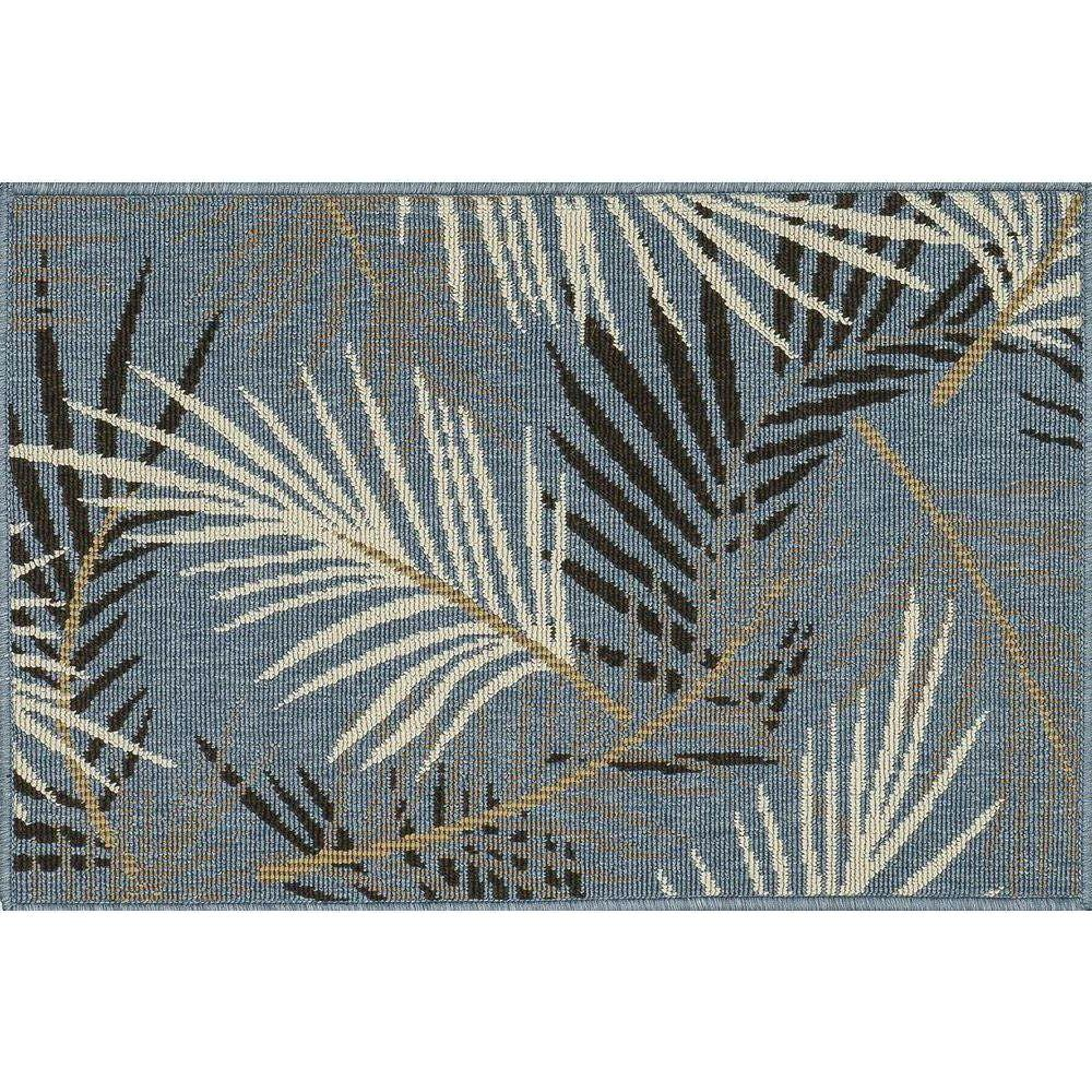 Loloi Rugs Augusta Lifestyle Collection Tropical 1 ft. 9 in. x 2 ft. 9 in. Accent Rug-DISCONTINUED