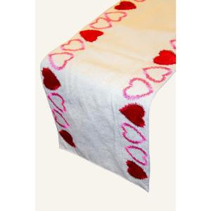 Lintex Linen Radiant Heart Cotton and Poly Table Runner by Lintex