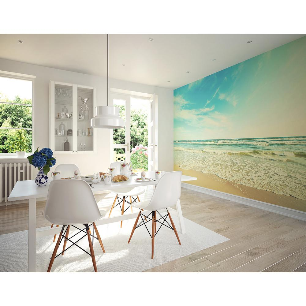Brewster 118 in x 98 in seashore wall mural wals0152 for Brewster wall mural