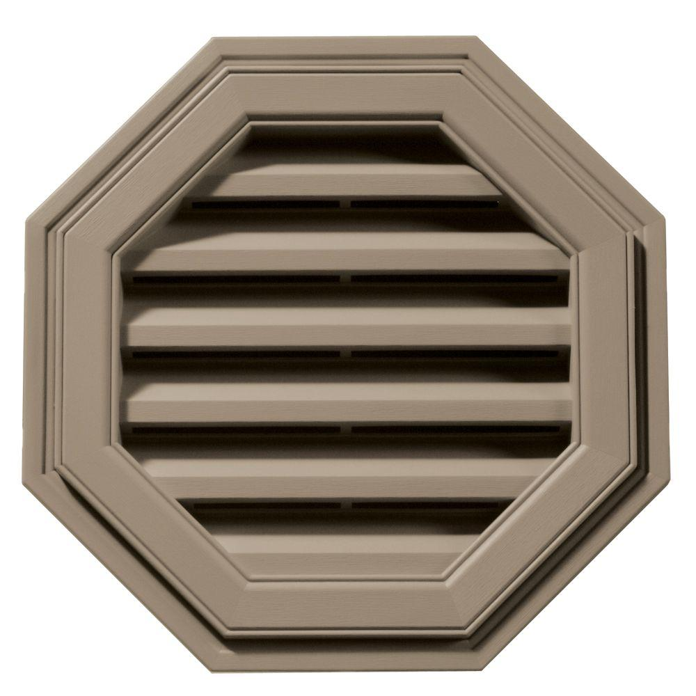 18 in. Octagon Gable Vent in Clay