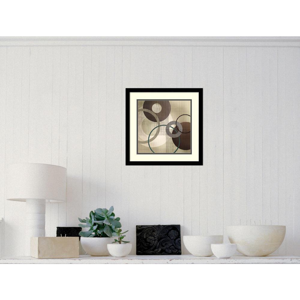 "17 in. W x 17 in. H ""Hoops ""n"" Loops I"" by Tandi Venter Framed Art Print"