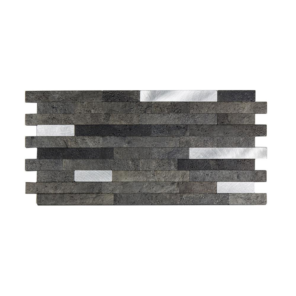 Reviews For Aspect 11 75 In X 12 In Metal And Composite Peel And Stick Backsplash In Oyster Ac001 The Home Depot