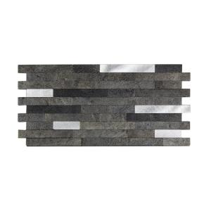 11.75 in. x 12 in. Metal and Composite Peel and Stick Backsplash in Oyster