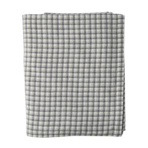 Washable Wool Gray Plaid Throw