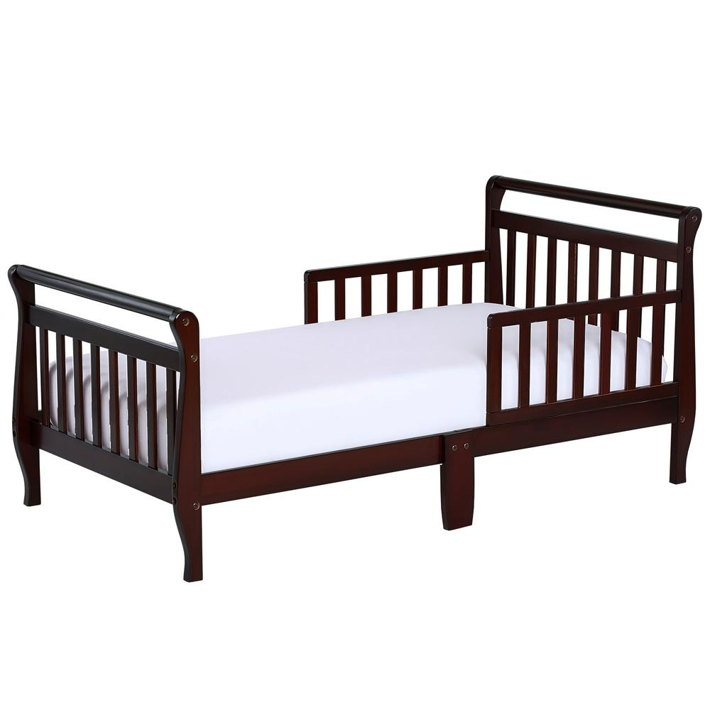 Dream On Me Espresso Toddler Adjustable Sleigh Bed-642-E ...