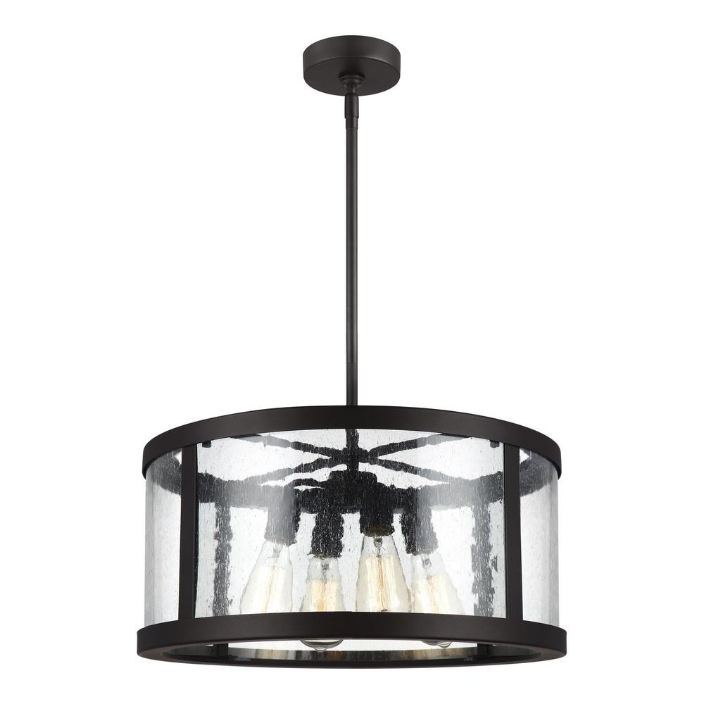 b15aff903cc Feiss Harrow 4-Light Oil Rubbed Bronze Pendant-F3199 4ORB - The Home ...