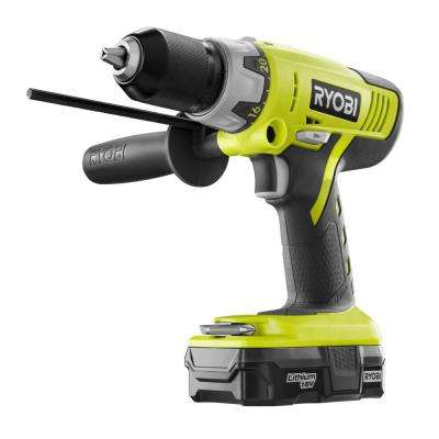 18-Volt ONE+ Lithium-Ion Cordless 1/2 in. Hammer Drill Kit with 1.3 Ah Compact Battery and Dual Chemistry Charger