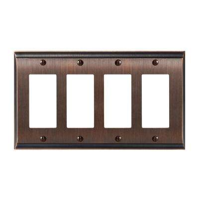Candler 4-Rocker Wall Plate, Oil-Rubbed Bronze