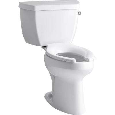 Highline 2-piece 1.0 GPF Single Flush Elongated Toilet in White, Seat Not Included