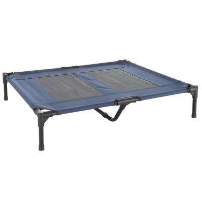 Large Navy Blue Elevated Pet Bed