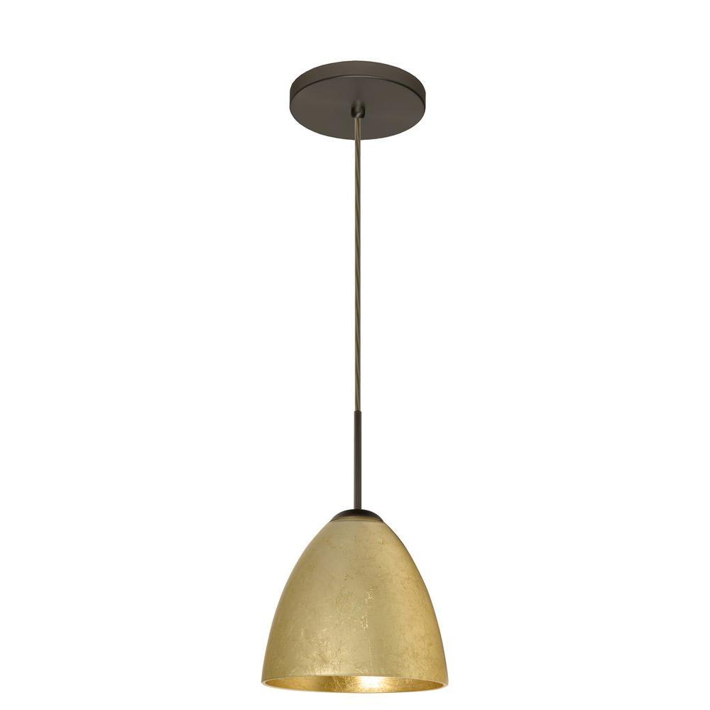 Filament Design Manhattan 1-Light Bronze Gold Foil Pendant