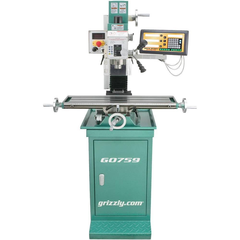 Grizzly Industrial Mill/Drill with Stand and DRO
