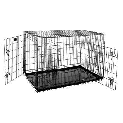 48 in. L x 29 in. W 2-Door Folding Pet Crate