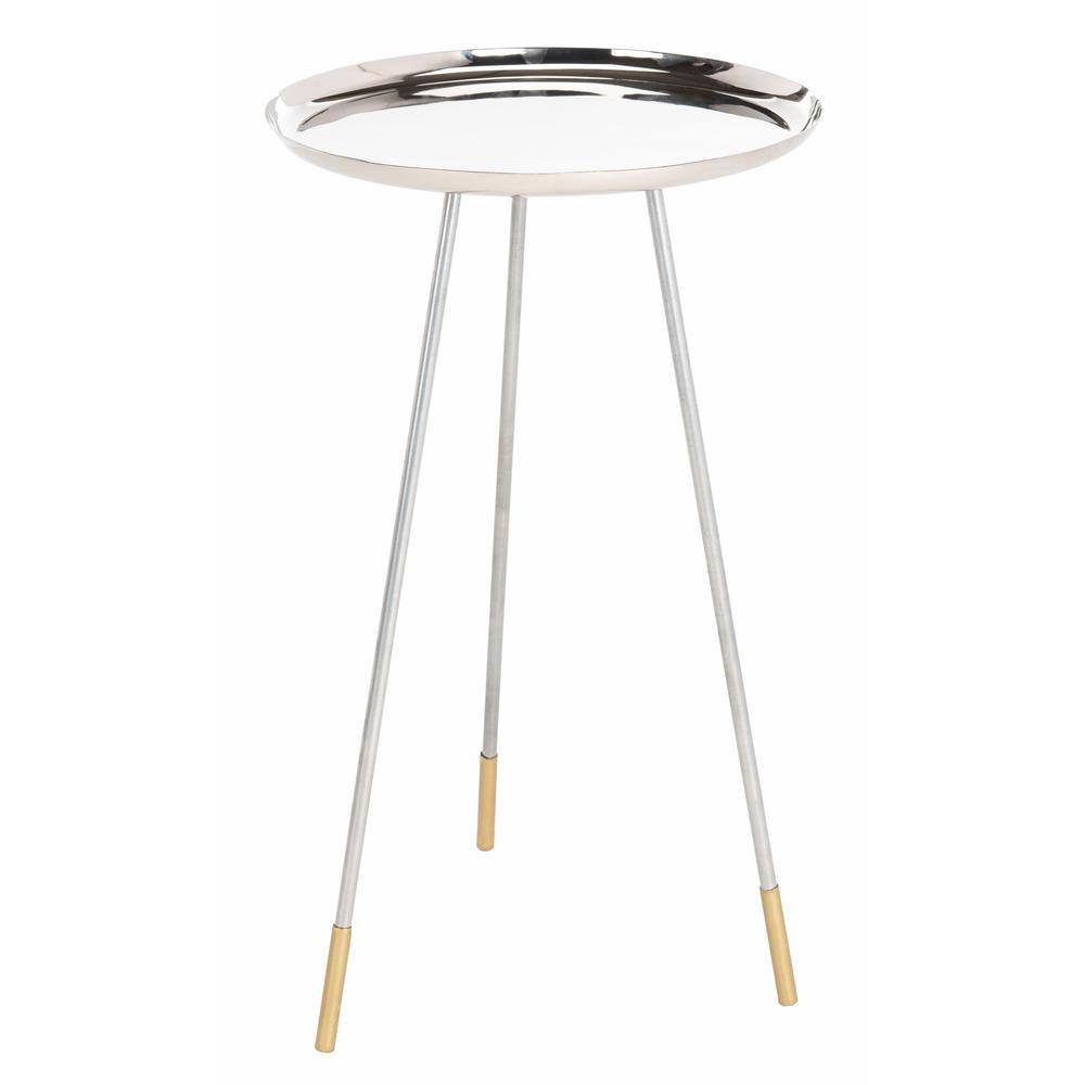 Safavieh Calix Silver/Gold Side Table FOX4527B