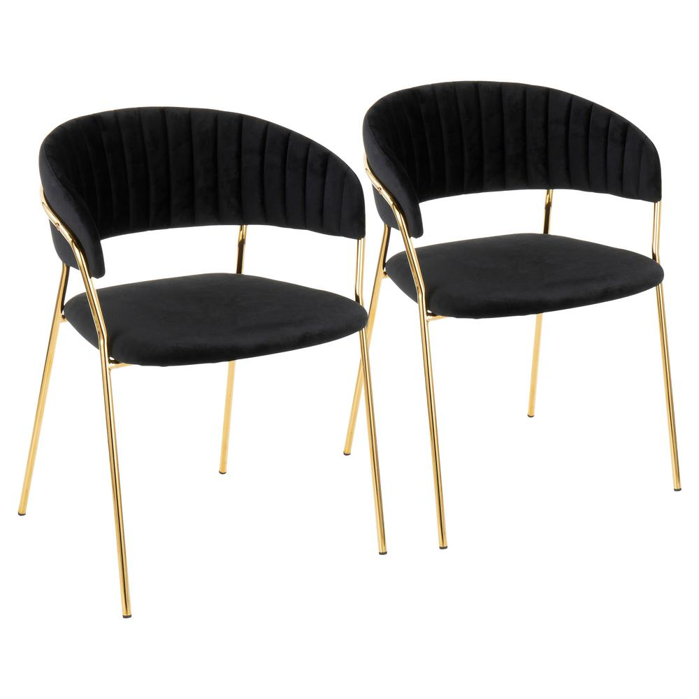Clear Gold Arm Dining Chair Fmi1130 Gold The Home Depot