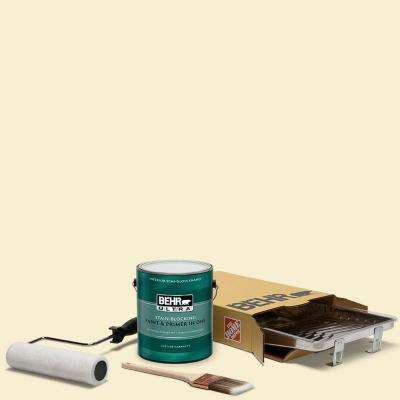 1 gal. #YL-W03 Honied White Ultra Semi-Gloss Enamel Interior Paint and 5-Piece Wooster Set All-in-One Project Kit