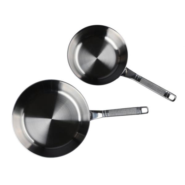 2-Piece Tri-Ply Stainless Steel Skillet Set