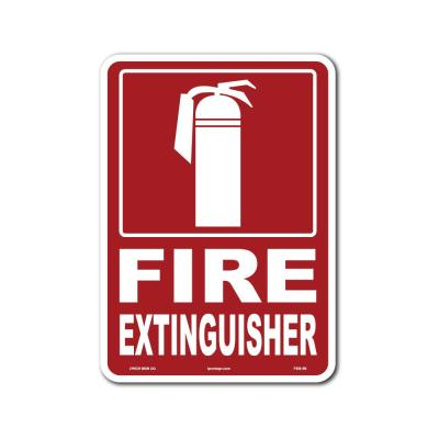 7 in. x 10 in. Fire Extinguisher Sign Printed on More Durable Thicker Longer Lasting Styrene Plastic