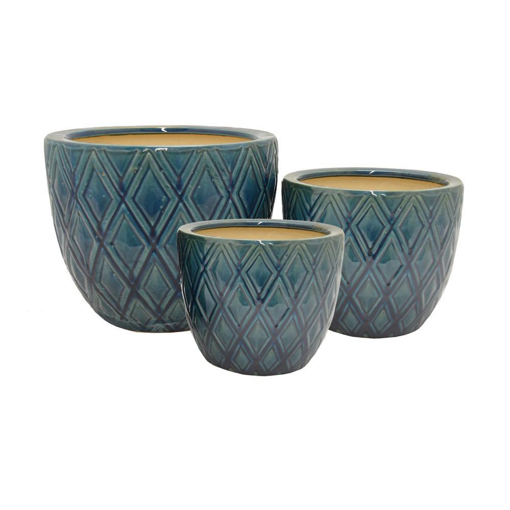 THREE HANDS Ceramic Planter (Set of 3)