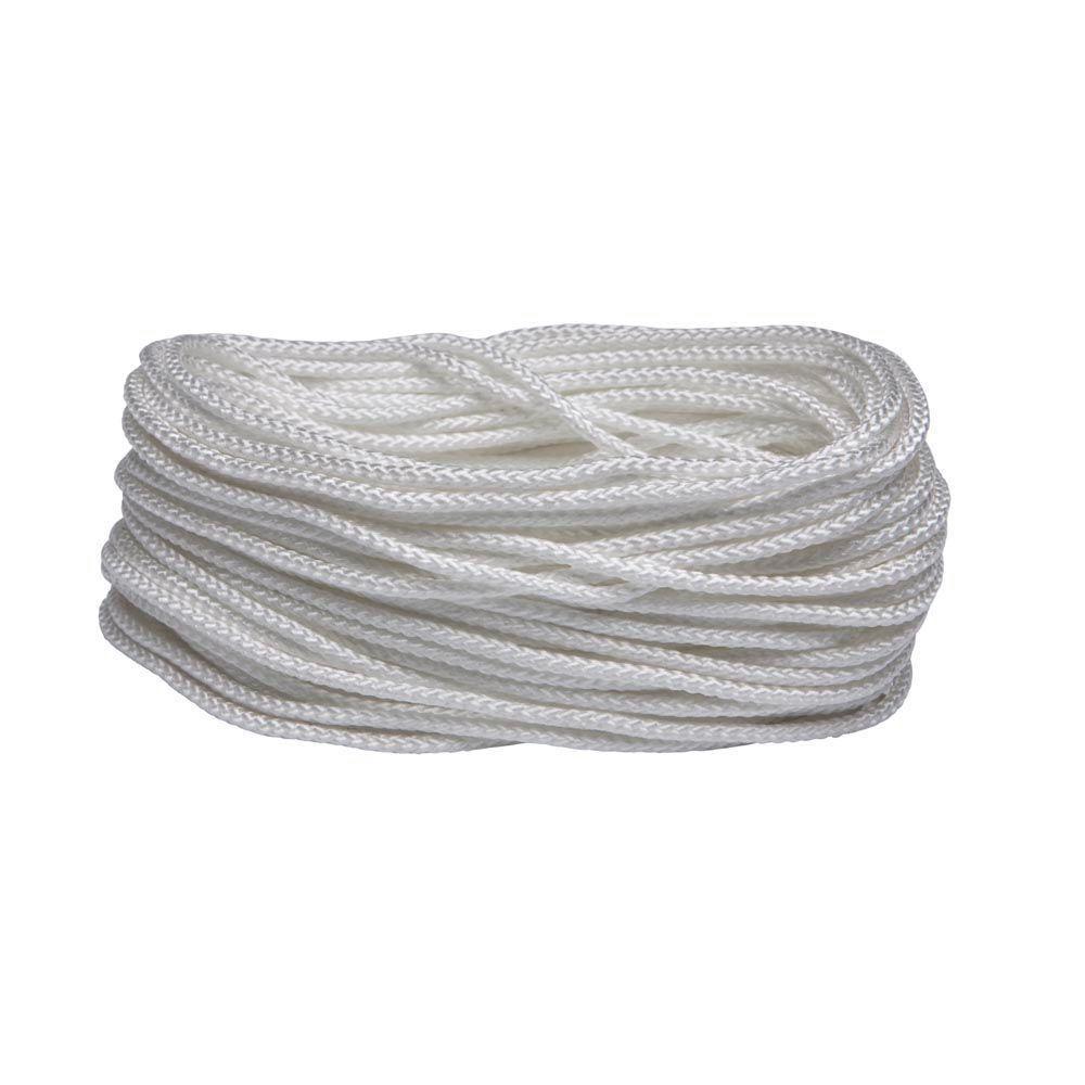 5/16 in. x 50 ft. White Nylon and Polypropylene Diamond Braid