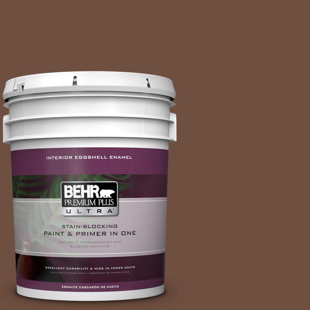 5 gal. #HDC-FL15-04 Cinnamon Crumble Eggshell Enamel Interior Paint