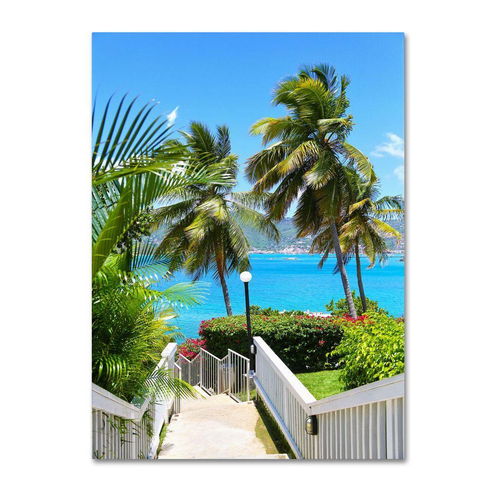 Trademark Fine Art 30 in. x 47 in. Virgin Islands 3 Canvas Art