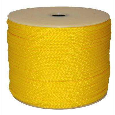 1/4 in. x 500 ft. Hollow Braid Polypro Rope in Yellow