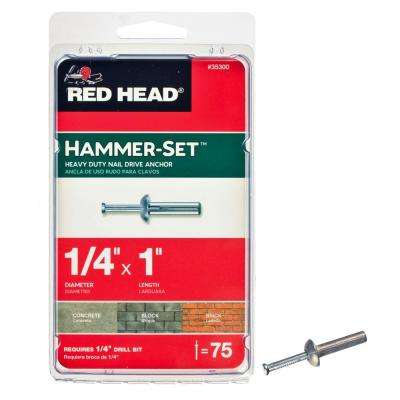 1/4 in. x 1 in. Hammer-Set Nail Drive Concrete Anchors (75-Pack)