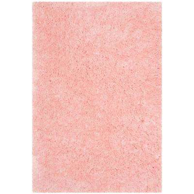 Arctic Shag Pink 4 ft. x 6 ft. Area Rug