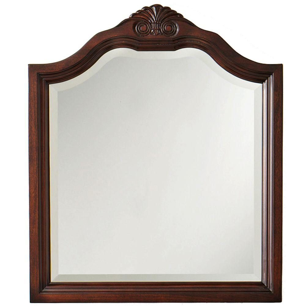 Home Decorators Collection Portland 24 in. W Mirror in Cherry