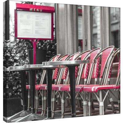 15.in x 15.in ''Paris Cafe'' Printed Canvas Wall Art