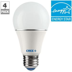Cree 60W Equivalent Soft White (2700K) A19 Dimmable LED Light Bulb (4-Pack)