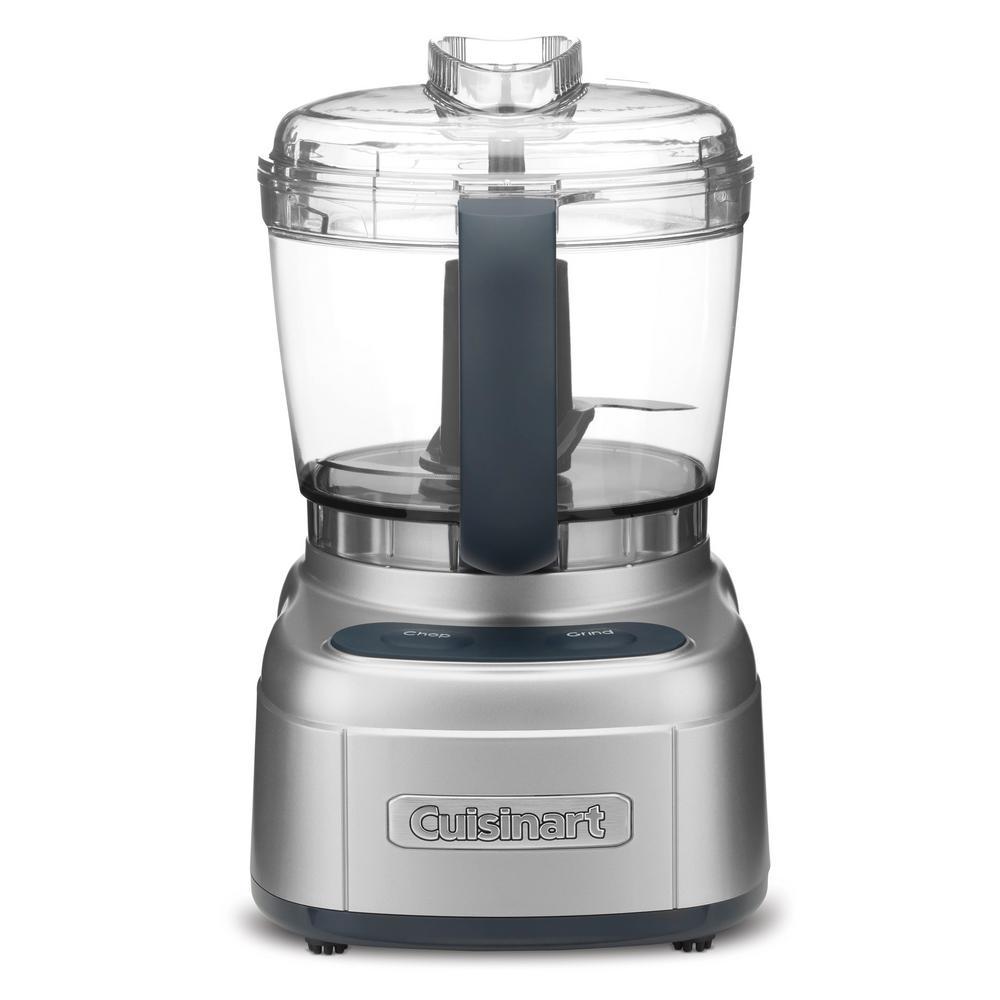 Elemental 4-Cup Silver Food Processor