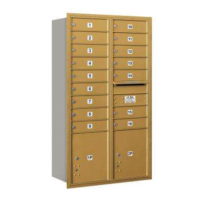 3700 Horizontal Series 16-Compartment with 2-Parcel Locker Recessed Mount Mailbox