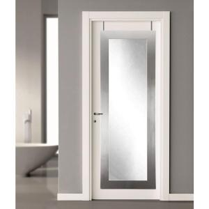 Click here to buy  21.5 inch x 71 inch Silver Over the Door Full Length Framed Mirror.