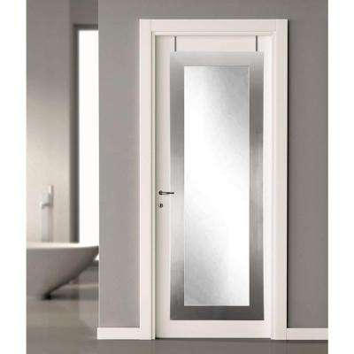21.5 in. x 71 in. Silver Over the Door Full Length Framed Mirror