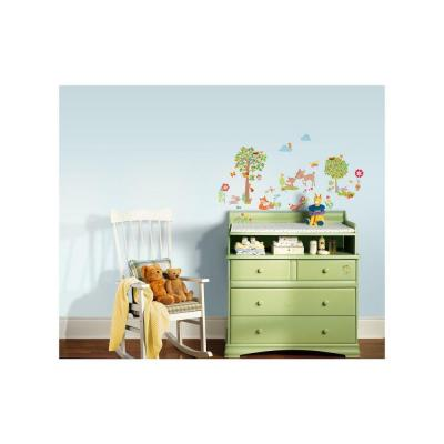 5 in. W x 11.5 in. H Woodland Creatures 39-Piece Peel and Stick Wall Decal