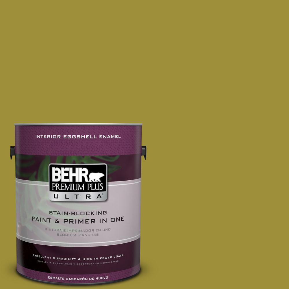 BEHR Premium Plus Ultra Home Decorators Collection 1-gal. #HDC-MD-20 Banana Leaf Eggshell Enamel Interior Paint